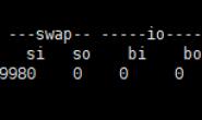 Linux命令查看服务器状态之vmstat