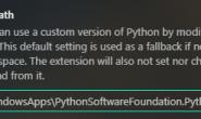 vscode的Python插件更换python版本后无法识别python启动程序解决方法