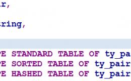 不同类型的ABAP内表读写性能比较
