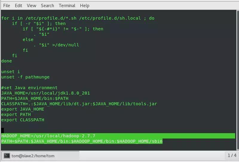 Hadoop集群搭建过程