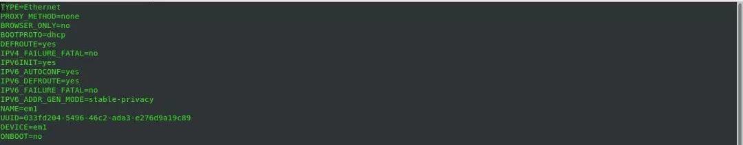 CentOS7修改静态IP