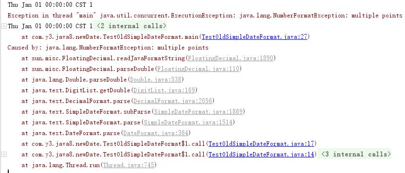 【JAVA8新的时间与日期 API】- 传统时间格式化的线程安全问题