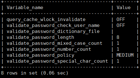 mysql错误详解(1819):ERROR 1819 (HY000): Your password does not satisfy the current policy requirements